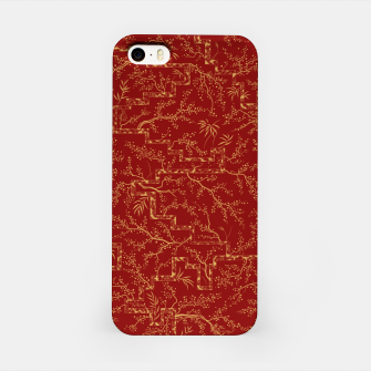 Miniatur Sakura bloom at golden red sunset iPhone Case, Live Heroes
