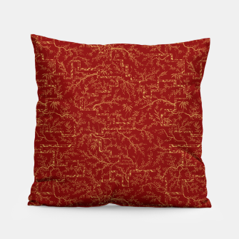 Miniatur Sakura bloom at golden red sunset Pillow, Live Heroes