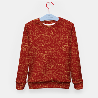 Miniatur Sakura bloom at golden red sunset Kid's sweater, Live Heroes