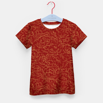 Miniatur Sakura bloom at golden red sunset Kid's t-shirt, Live Heroes
