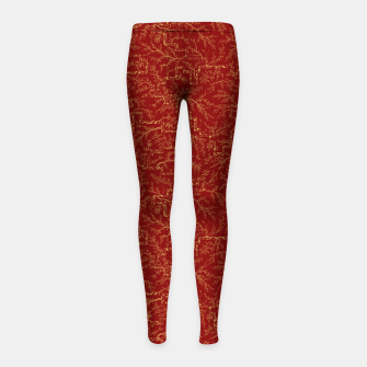 Imagen en miniatura de Sakura bloom at golden red sunset Girl's leggings, Live Heroes