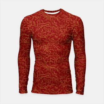 Miniatur Sakura bloom at golden red sunset Longsleeve rashguard , Live Heroes
