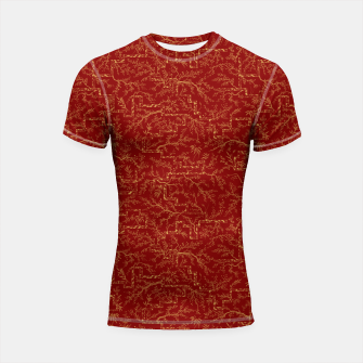 Miniatur Sakura bloom at golden red sunset Shortsleeve rashguard, Live Heroes