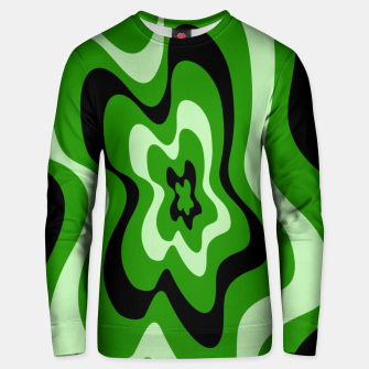 Miniatur Abstract pattern - green. Unisex sweater, Live Heroes