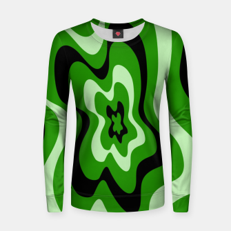 Thumbnail image of Abstract pattern - green. Women sweater, Live Heroes