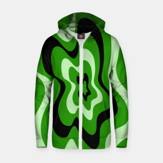 Thumbnail image of Abstract pattern - green. Zip up hoodie, Live Heroes