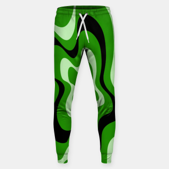Miniatur Abstract pattern - green. Sweatpants, Live Heroes
