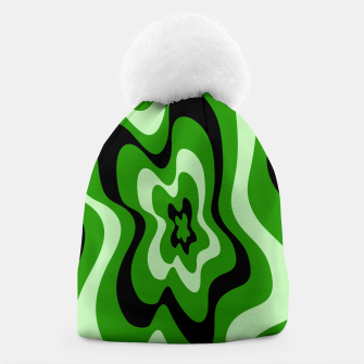 Thumbnail image of Abstract pattern - green. Beanie, Live Heroes