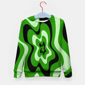Thumbnail image of Abstract pattern - green. Kid's sweater, Live Heroes