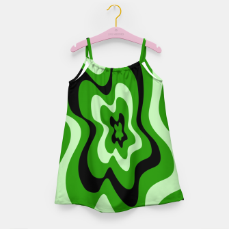 Thumbnail image of Abstract pattern - green. Girl's dress, Live Heroes