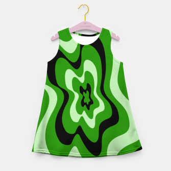 Thumbnail image of Abstract pattern - green. Girl's summer dress, Live Heroes