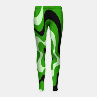 Imagen en miniatura de Abstract pattern - green. Girl's leggings, Live Heroes