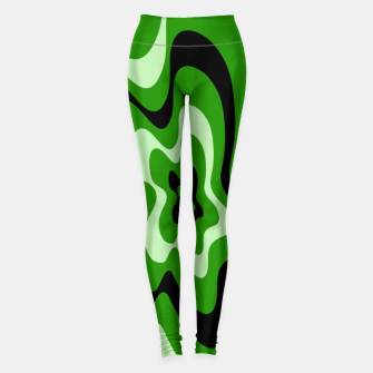 Thumbnail image of Abstract pattern - green. Leggings, Live Heroes