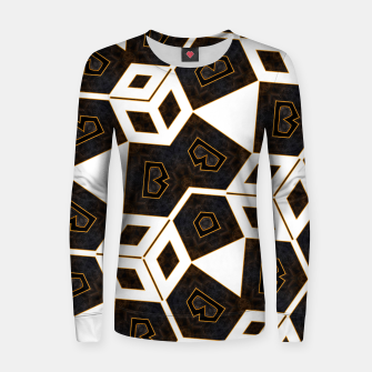 Thumbnail image of ITGRLBLK225346RM15 Abstract Geometric Pattern Women sweater, Live Heroes