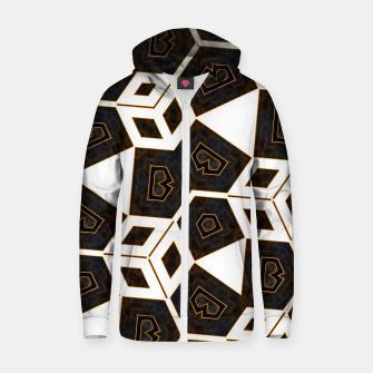 Thumbnail image of ITGRLBLK225346RM15 Abstract Geometric Pattern Zip up hoodie, Live Heroes