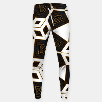 Miniatur ITGRLBLK225346RM15 Abstract Geometric Pattern Sweatpants, Live Heroes