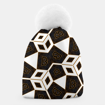 Thumbnail image of ITGRLBLK225346RM15 Abstract Geometric Pattern Beanie, Live Heroes