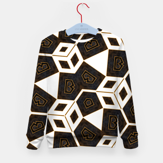 Thumbnail image of ITGRLBLK225346RM15 Abstract Geometric Pattern Kid's sweater, Live Heroes