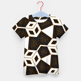 Thumbnail image of ITGRLBLK225346RM15 Abstract Geometric Pattern Kid's t-shirt, Live Heroes
