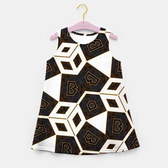 Thumbnail image of ITGRLBLK225346RM15 Abstract Geometric Pattern Girl's summer dress, Live Heroes