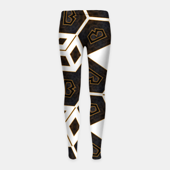 Imagen en miniatura de ITGRLBLK225346RM15 Abstract Geometric Pattern Girl's leggings, Live Heroes