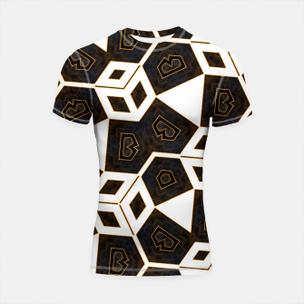 Thumbnail image of ITGRLBLK225346RM15 Abstract Geometric Pattern Shortsleeve rashguard, Live Heroes