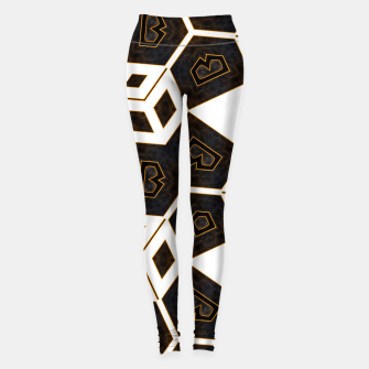 Thumbnail image of ITGRLBLK225346RM15 Abstract Geometric Pattern Leggings, Live Heroes