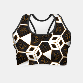 Miniaturka ITGRLBLK225346RM15 Abstract Geometric Pattern Crop Top, Live Heroes