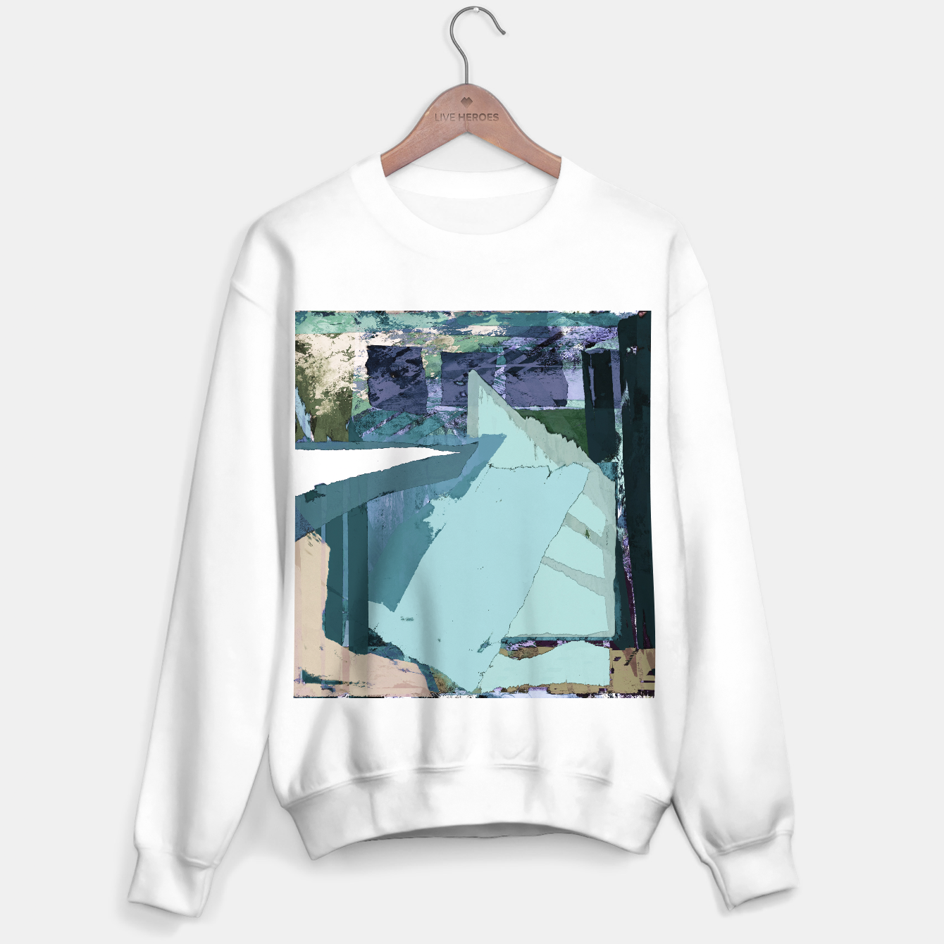 Image of Offset Sweater regular - Live Heroes