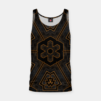 Thumbnail image of ITGRLBLKSRND1130225742 Abstract Pattern Tank Top, Live Heroes
