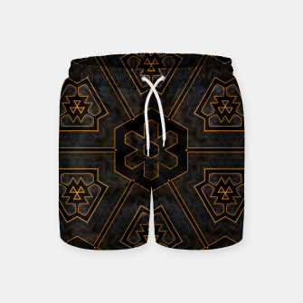 Thumbnail image of ITGRLBLKSRND1130225742 Abstract Pattern Swim Shorts, Live Heroes