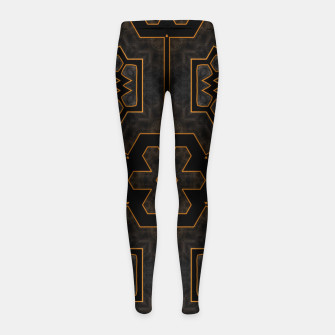 Thumbnail image of ITGRLBLKSRND1130225742 Abstract Pattern Girl's leggings, Live Heroes
