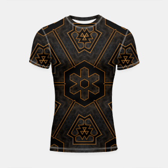 Thumbnail image of ITGRLBLKSRND1130225742 Abstract Pattern Shortsleeve rashguard, Live Heroes