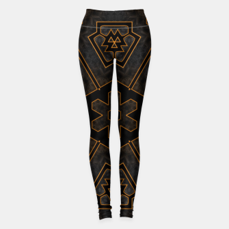 Thumbnail image of ITGRLBLKSRND1130225742 Abstract Pattern Leggings, Live Heroes
