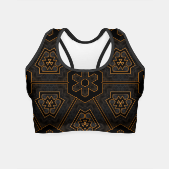 Thumbnail image of ITGRLBLKSRND1130225742 Abstract Pattern Crop Top, Live Heroes