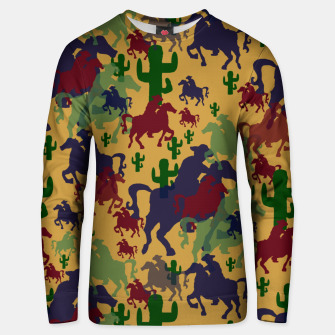 Thumbnail image of Cowboys Pattern Unisex sweater, Live Heroes