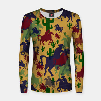 Thumbnail image of Cowboys Pattern Women sweater, Live Heroes