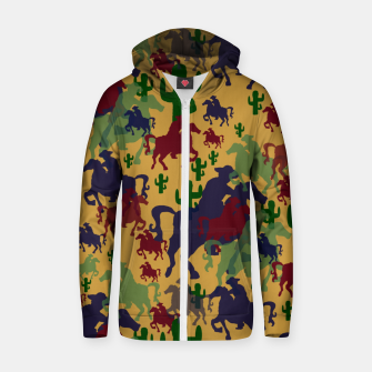 Thumbnail image of Cowboys Pattern Zip up hoodie, Live Heroes