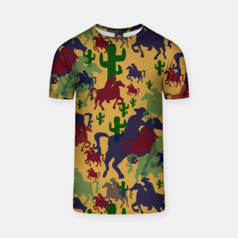 Thumbnail image of Cowboys Pattern T-shirt, Live Heroes