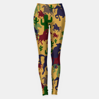 Thumbnail image of Cowboys Pattern Leggings, Live Heroes