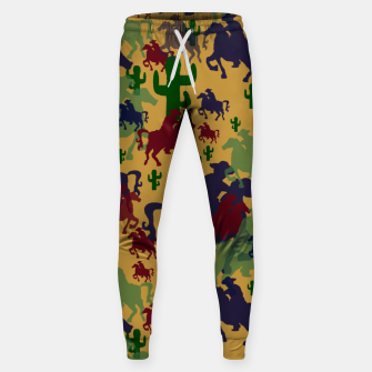 Miniatur Cowboys Pattern Sweatpants, Live Heroes