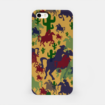 Miniatur Cowboys Pattern iPhone Case, Live Heroes