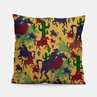 Miniatur Cowboys Pattern Pillow, Live Heroes