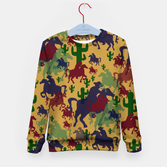 Thumbnail image of Cowboys Pattern Kid's sweater, Live Heroes