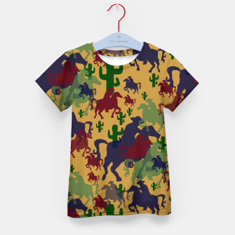 Thumbnail image of Cowboys Pattern Kid's t-shirt, Live Heroes