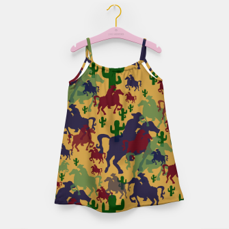 Thumbnail image of Cowboys Pattern Girl's dress, Live Heroes