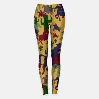 Miniatur Cowboys Pattern Leggings, Live Heroes
