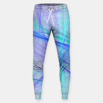 Miniatur Abstract Fractal Art Sweatpants, Live Heroes