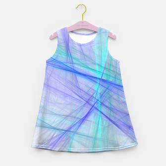 Miniatur Abstract Fractal Art Girl's summer dress, Live Heroes