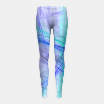 Miniatur Abstract Fractal Art Girl's leggings, Live Heroes